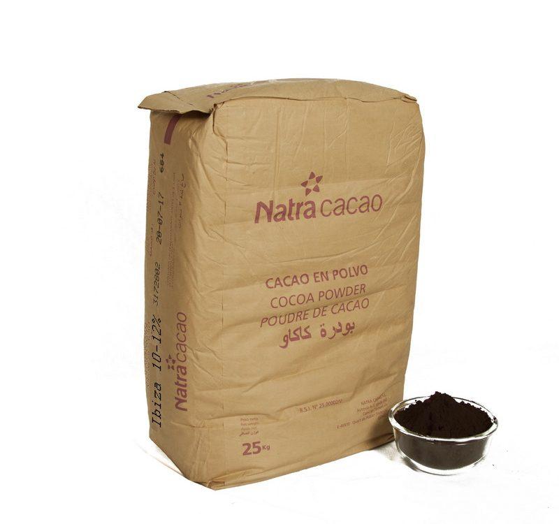 پودر کاکائو خام در کارخانجات مواد غذایی