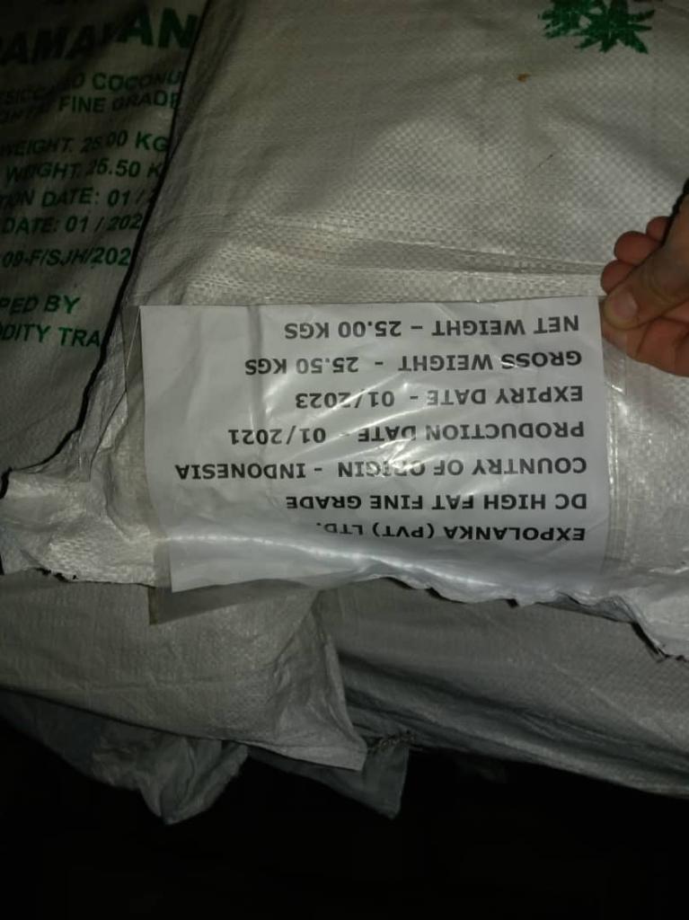 قیمت روز پودر نارگیل سریلانکا Coconut Powder