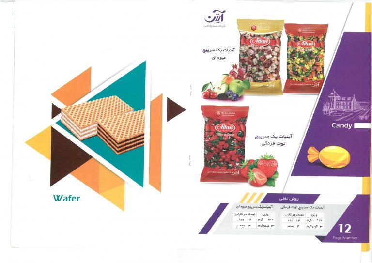 قیمت آبنبات های تولید ایران